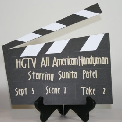 HGTV PARTY Director's Clapperboard Using Cricut Locker Talk + GIVE AWAY