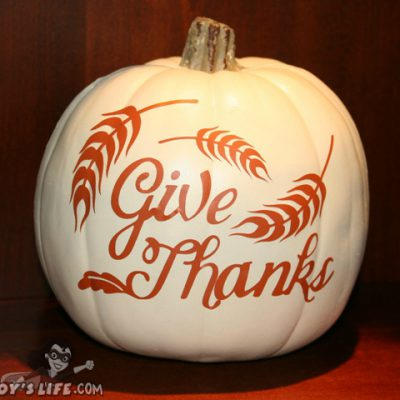 Cricut Thanksgiving Cartridge Vinyl Craft Pumpkin