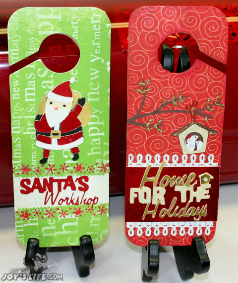 Cricut holiday door hangers 12 days of christmas day nine for 12 days of christmas door decoration