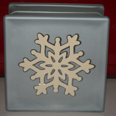 Frosted Glass Vinyl Snowflake Block