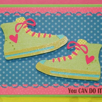Cricut Formal Occasions High Top Shoe Card