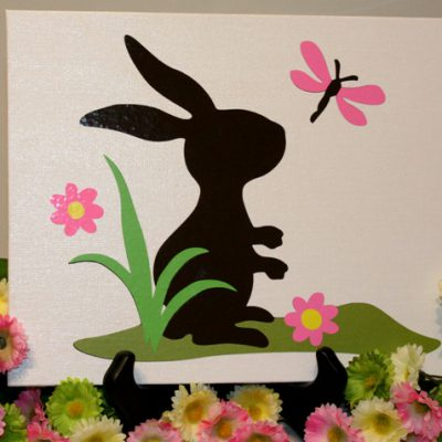 Vinyl Canvas Spring Rabbit from Cricut Kate's ABC's