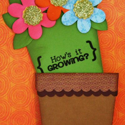Flower Pot Card Using the Silhouette SD