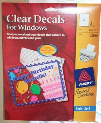 Smart image regarding printable window decal paper avery