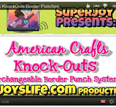American Crafts KnockOuts Interchangeable Punches VIDEO