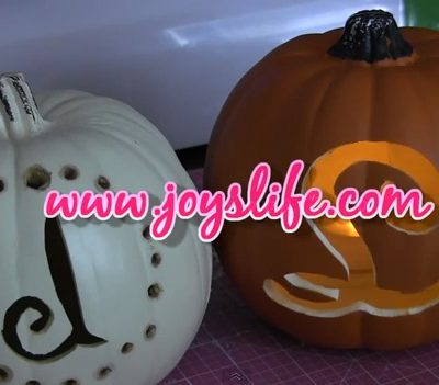 VIDEO: How to Carve and Monogram a Craft Pumpkin