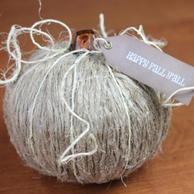 It's All Fall Blog Hop – Twine Pumpkin
