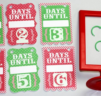 Photo Frame Hanging Advent Countdown Calendar – Lori Whitlock Blog Hop