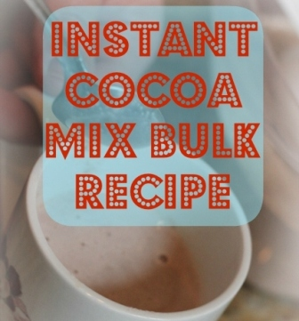 Instant Cocoa Mix Bulk Recipe