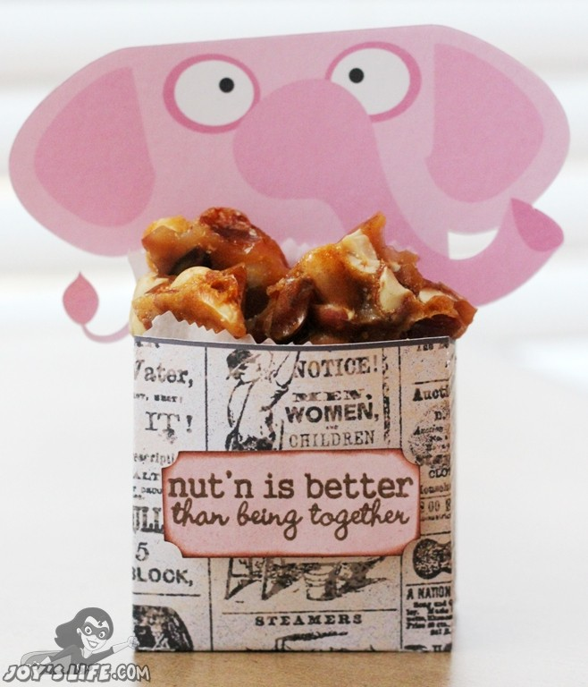 I wonder what the elephant's stand is on peanut brittle?  Hmmm... LOL!