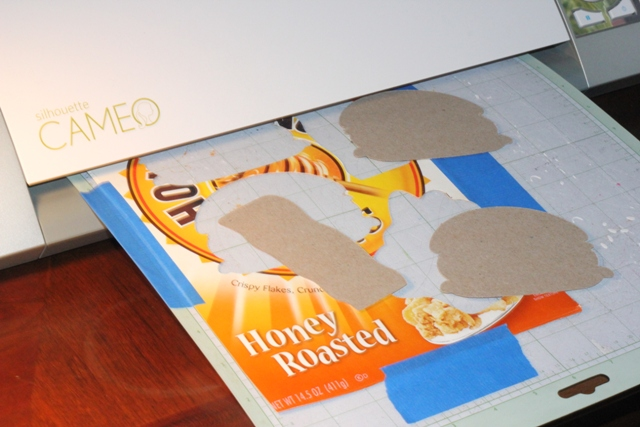 Cutting Cereal Box with Cameo