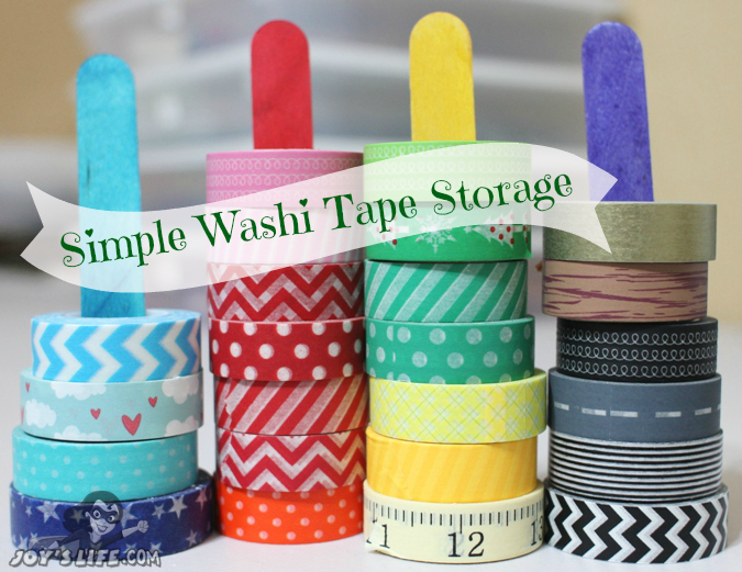 Craft stick washi tape holders and Washi Projects - www.joyslife.com