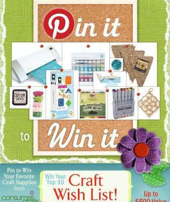 Pin it to Win it with ConsumerCrafts #craftwishlist