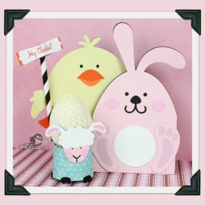 Bunny, Chick & Lamb Easter Gift Cards & Egg Holder – Glue Dots Design Team