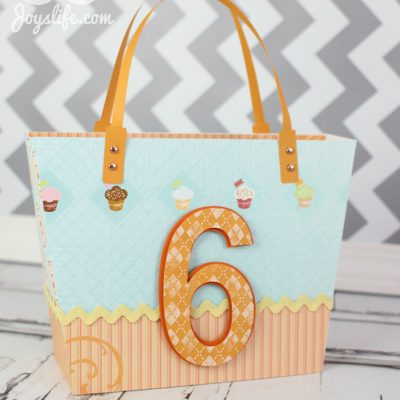 Make a Child's Birthday Gift Bag using SVGCuts Luxury Handbags