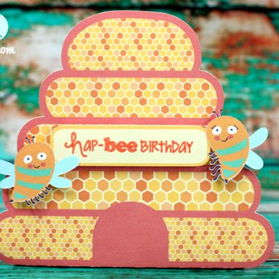 Easy Print Cut Birthday Bee Gift Bag