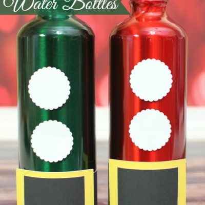 Elf & Santa Water Bottles – Glue Dots Blog Hop