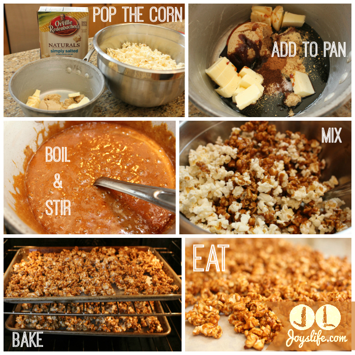 Gingerbread popcorn process #shop #recipe #popcorn #EasyGifts