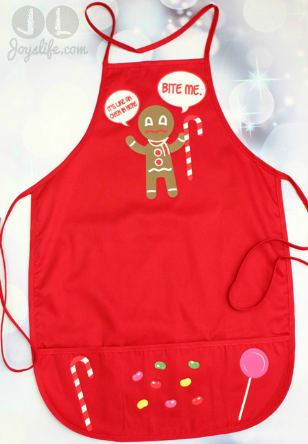 Gingerbread Man Iron On Vinyl Christmas Apron #SEI #Christmas #apron
