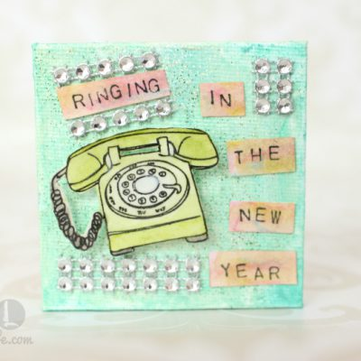 Ringing in the New Year Mixed Media Mini Canvas