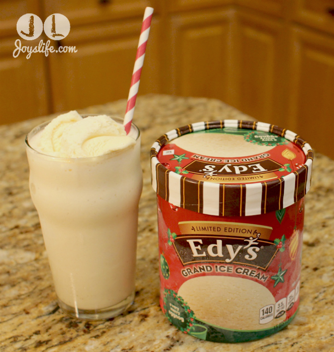 Eggnog Milk Shake with Edys Ice Cream #PlanAhead #shop #cbias