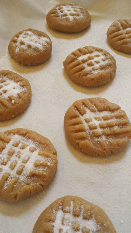 No Flour Peanut Butter #Cookies #Recipe