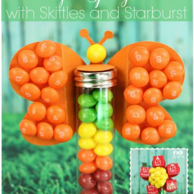 Butterfly & Flower Candy Gifts for Spring with Skittles and Starburst