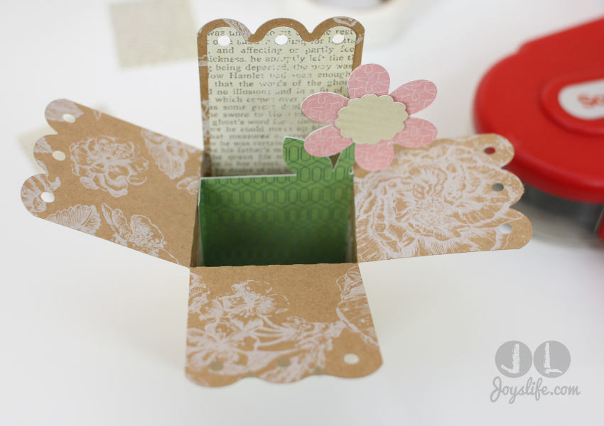 3D Pop Up Flower Card #SEI #SilhouetteCameo #LoriWhitlock #SVG #JoysLifeStamps