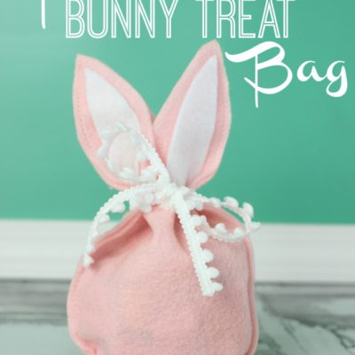 Felt Bunny Treat Bag