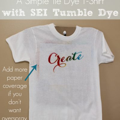 Create: A Simple Tie Dye T-Shirt with SEI Tumble Dye