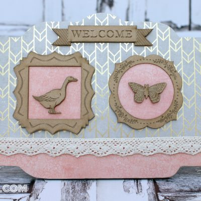 Cottage Style Upcycled Welcome Sign with SEI