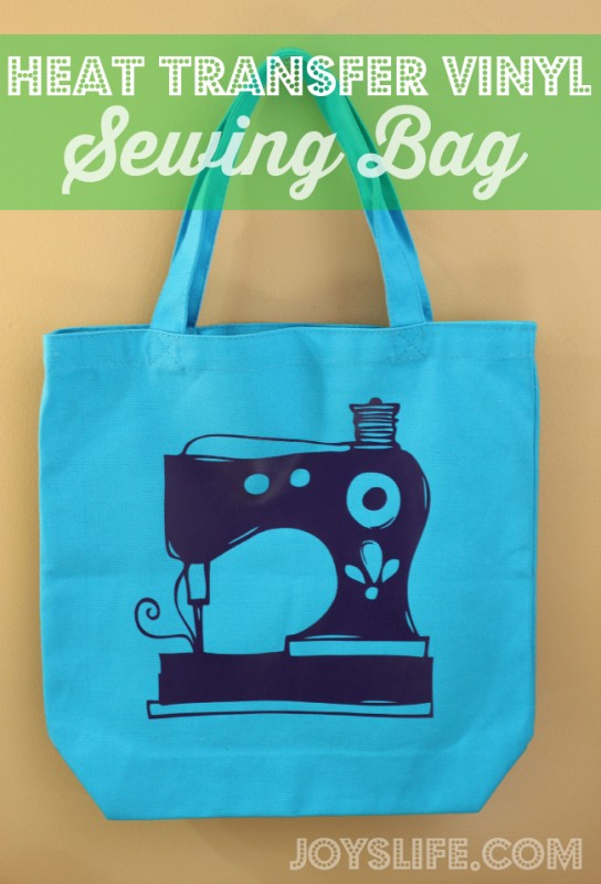 Heat Transfer Vinyl Sewing Bag #vinyl #sewing #joyslife #ironon