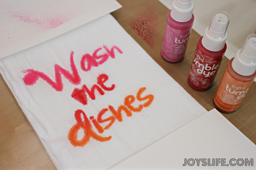 Wash the Dishes Kitchen Towel with SEI Tumble Dye #SEI #TumbleDye #TieDye #Kitchen