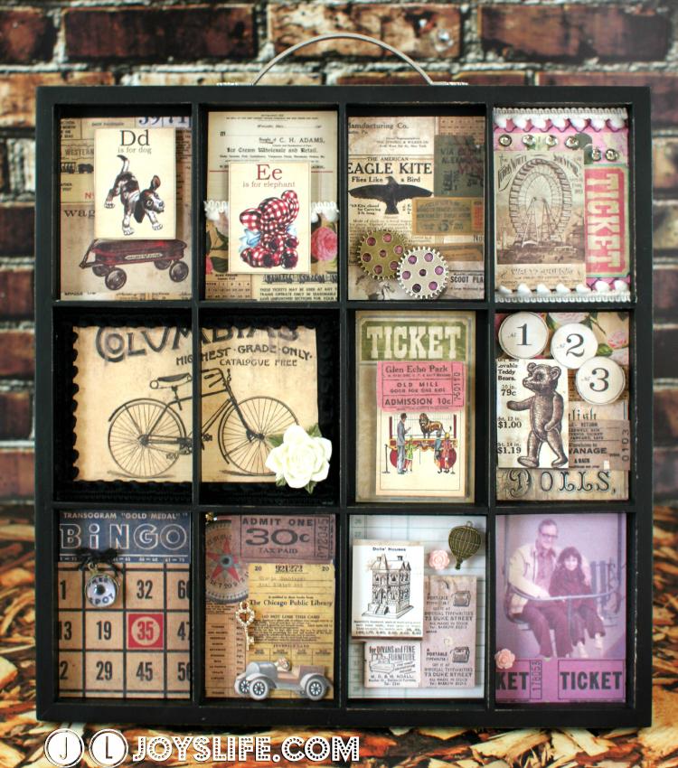 typesetter tray memory frame memoryframe gluedots typesetter crafts