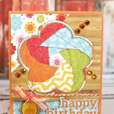 Iris Fold Birthday Flower Card