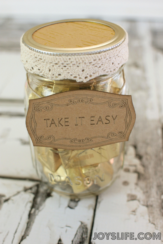Take It Easy Candy Mason Jar with SEI #SEI #MasonJar