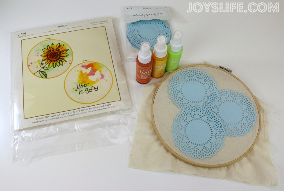 Be u tie dye hoop art with sei tumble dye joy 39 s life for Sei crafts tumble dye