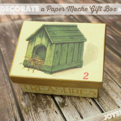 How to Decorate a Paper Mache Gift Box with SEI