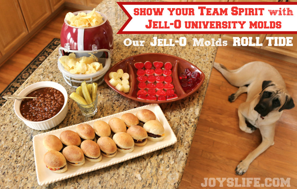 We Roll Tide with Our Alabama Game Day Food & Jell-O Jigglers #TeamJellO #shop #RollTide #Bama #footballfood #EnglishMastiff #puppy