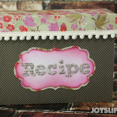 Paper Recipe Box with SEI