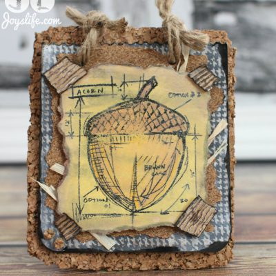 Cork Acorn Fall Decor with Faber Castell