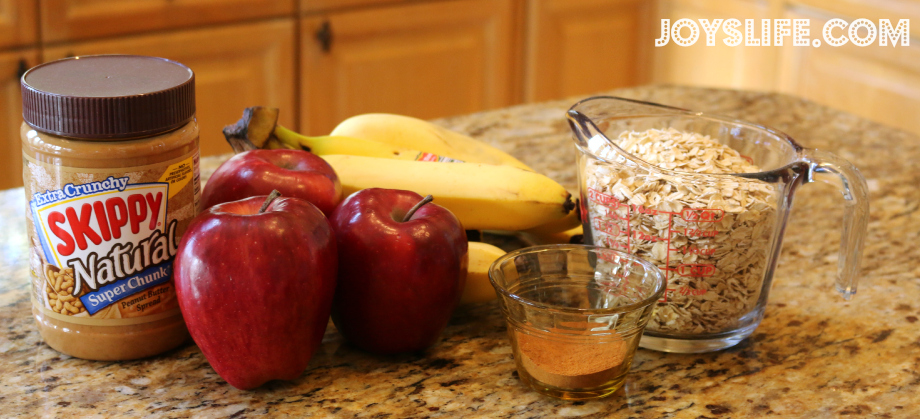 Peanut Butter Apple Spice Oatmeal Recipe + Giveaway #peanutbutter #recipe #breakfast