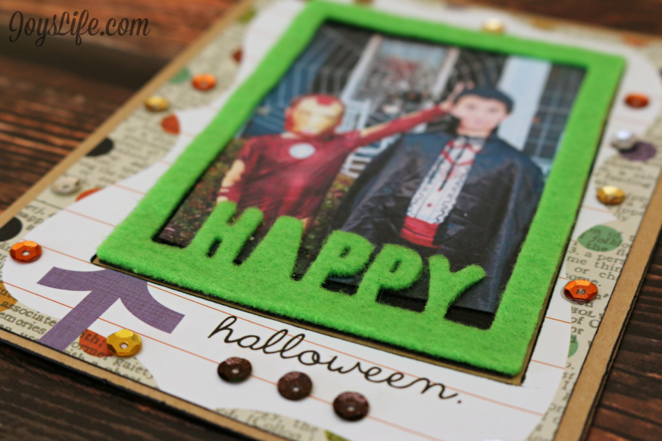 Happy Halloween Photo Card with Craftwell Cut 'N Boss & Teresa Collins #Halloween #Craftwell #TeresaCollins #CutNBoss #SimpleStories #card