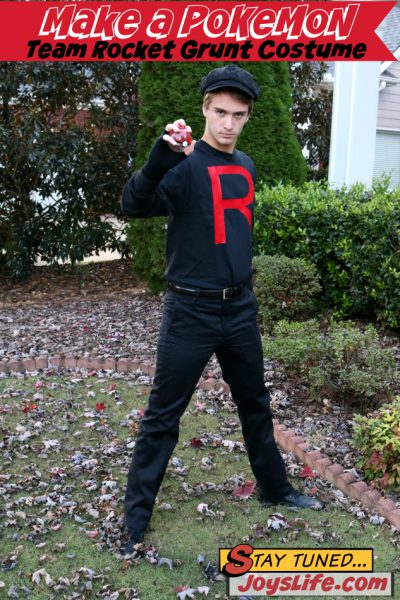 How to Make a Pokemon Team Rocket Grunt Costume PLUS an Iron On Vinyl Tutorial