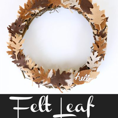 How to Create a Felt Leaf Grapevine Wreath