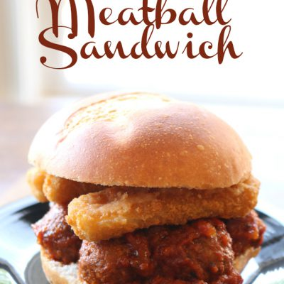 Mozzarella Cheese Stick Meatball Sandwich & Christmas Gift Tag Holiday Hack