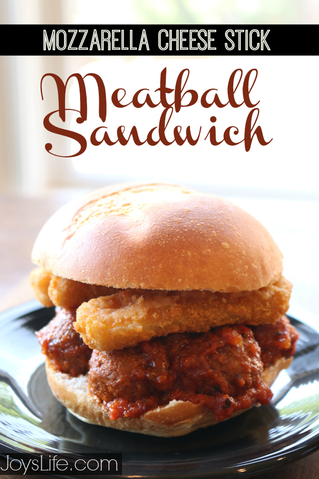 Mozzarella Cheese Stick Meatball Sandwich #recipe