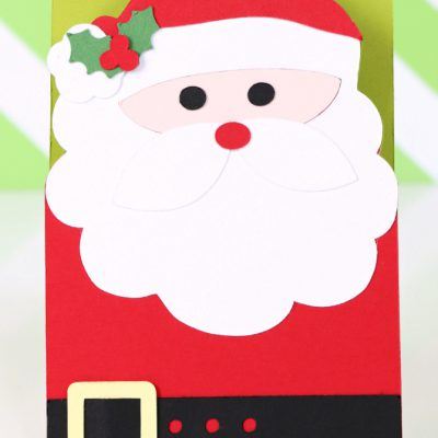 Quick & Easy Santa Card with Xyron & Silhouette Cameo 2