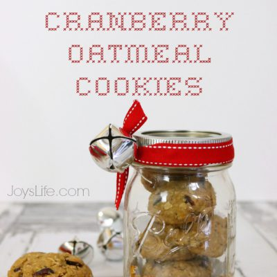 Homemade Orange Cranberry Oatmeal Cookies with Whole Grain Oats