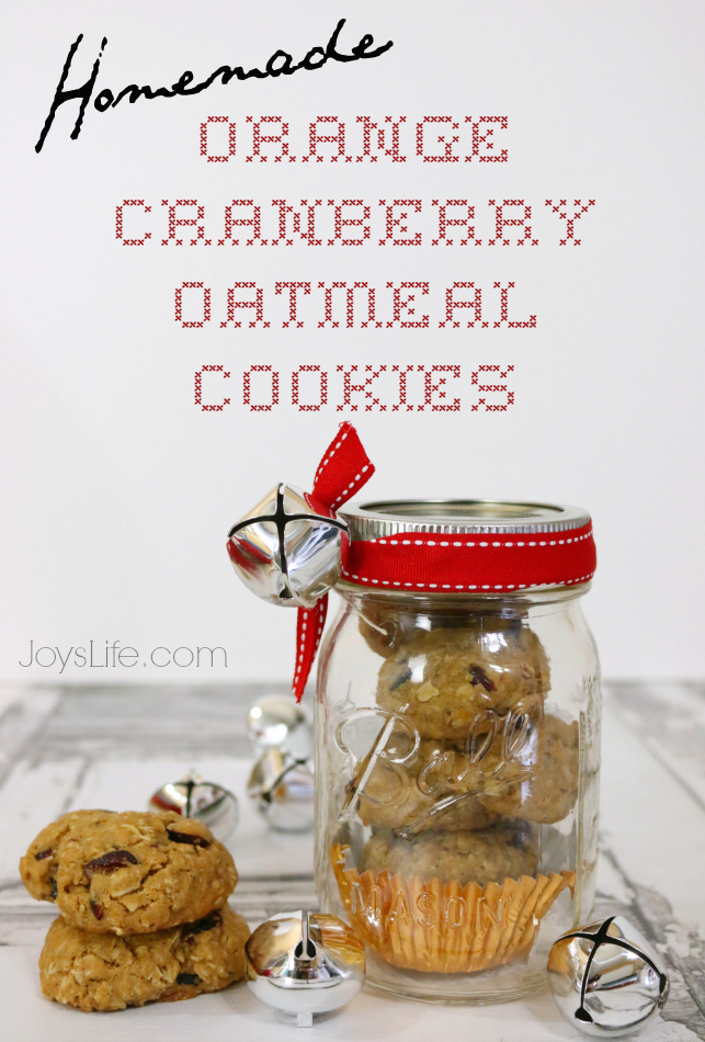 Homemade Orange Cranberry Oatmeal Cookies with Whole Grain Oats @Target #QuakerUp #MyOatsCreation #masonjar #gifts #spon